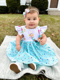 Plaid He is Risen Easter Isobel Dress