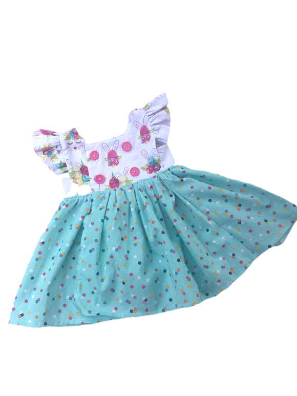 Easter Bunny Unicorn Isobel Dress