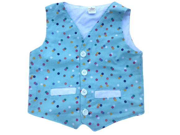 Polka Dot Boy's Easter Vest
