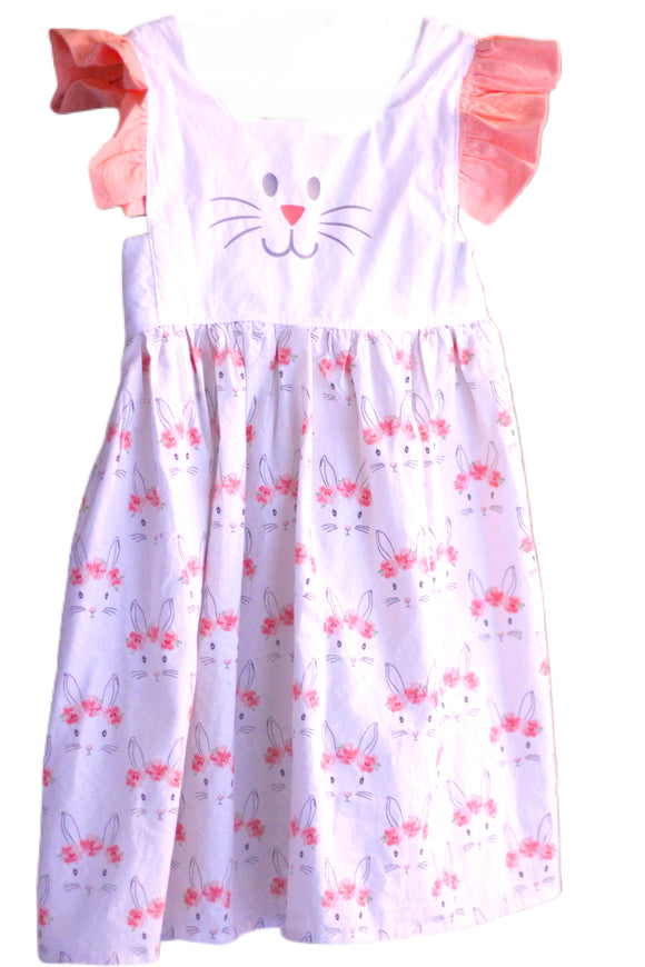Easter Bunny Face Isobel Dress