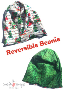 Christmas Character Reversible Slouchy Hat