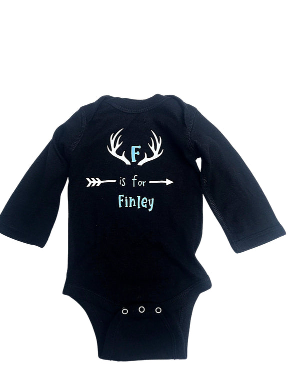 Monogrammed Baby Bodysuit, Baby shower gift, Personalized Baby shower gift