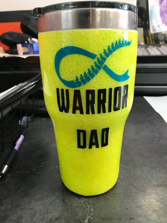 Warrior Dad-Spina Bifida Awareness Tumbler