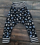 Handcrafted Children's Clothing, Clothing for Children and Parents, Hipster Harem Pants, chi-fashionista