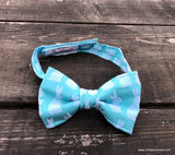 Blue Bunny Easter Bow Tie