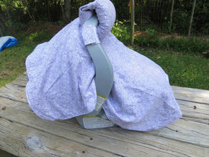 Lavender Baby Carseat Gift Set
