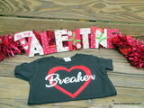 Handcrafted Children's Clothing, Clothing for Children and Parents, Heart Breaker Valentine's Day Shirt, chi-fashionista