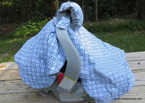 Nautical Car Seat Cover and Arm Saver