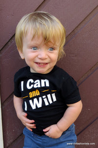 Handcrafted Children's Clothing, Clothing for Children and Parents, I Can and I Will- Spina Bifida Awareness Shirt, chi-fashionista