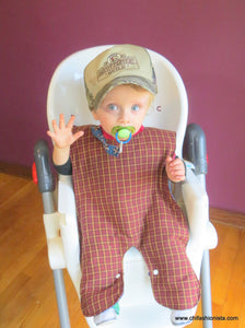 Handcrafted Children's Clothing, Clothing for Children and Parents, Country Boy Body Bib, chi-fashionista