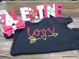 Handcrafted Children's Clothing, Clothing for Children and Parents, Love- Valentine's Day Shirt, chi-fashionista