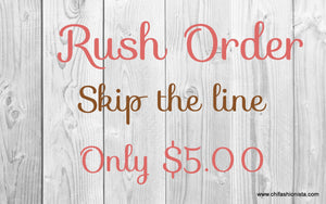 Handcrafted Children's Clothing, Clothing for Children and Parents, Rush Order-Skip the line, chi-fashionista