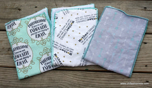 Set of 3 Burp Cloth-Motherhood inspired