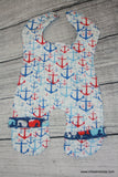Handcrafted Children's Clothing, Clothing for Children and Parents, Nautical Body Bib, chi-fashionista