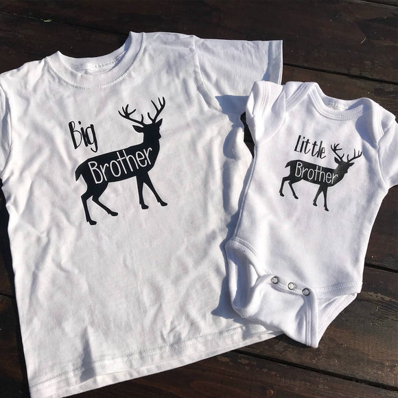 Handcrafted Children's Clothing, Clothing for Children and Parents, Big Brother & Little Brother Shirt Set, chi-fashionista