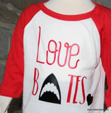 Handcrafted Children's Clothing, Clothing for Children and Parents, Love Bites-  Valentine's Day Shirt, chi-fashionista