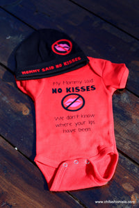 Handcrafted Children's Clothing, Clothing for Children and Parents, NO Kisses - We don't know where your lips have been, chi-fashionista