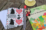 Burp Cloth & Pacifier Clip Gift Set- Alice in Wonderland insired