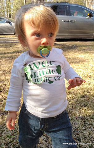 Wee Little Hooligan-St. Patrick's Day Shirt for Toddlers