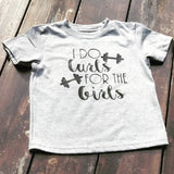 I Do Curls for Girls- Curly Hair Toddler Boy Shirt