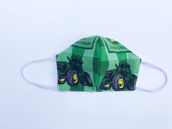 Green Tractor Cloth Face Mask