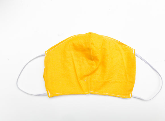 Yellow Cloth Face Mask