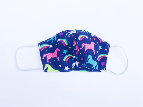 Colorful unicorn Cloth Face Mask