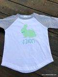 Personalized Rabbit Ragan Tee- Easter