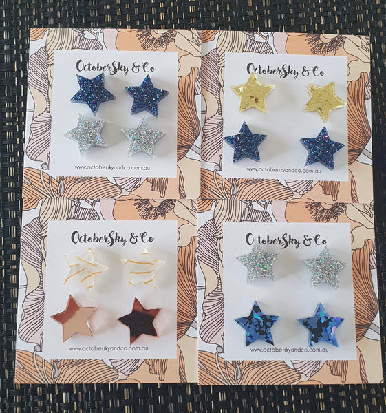 Mini Stars Studs Pack - CHOOSE COLOUR