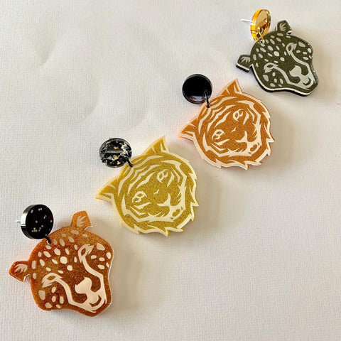 Big Cats Dangles Tigers - CHOOSE STYLE & COLOUR