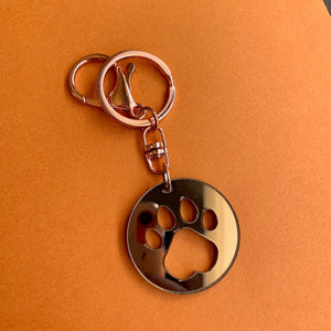 Canine Paw Print Keyring - CHOOSE COLOUR + SIZE
