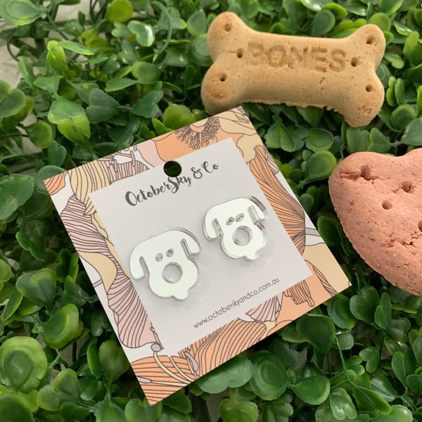 Short Ears Doggy Statement Studs - CHOOSE COLOUR