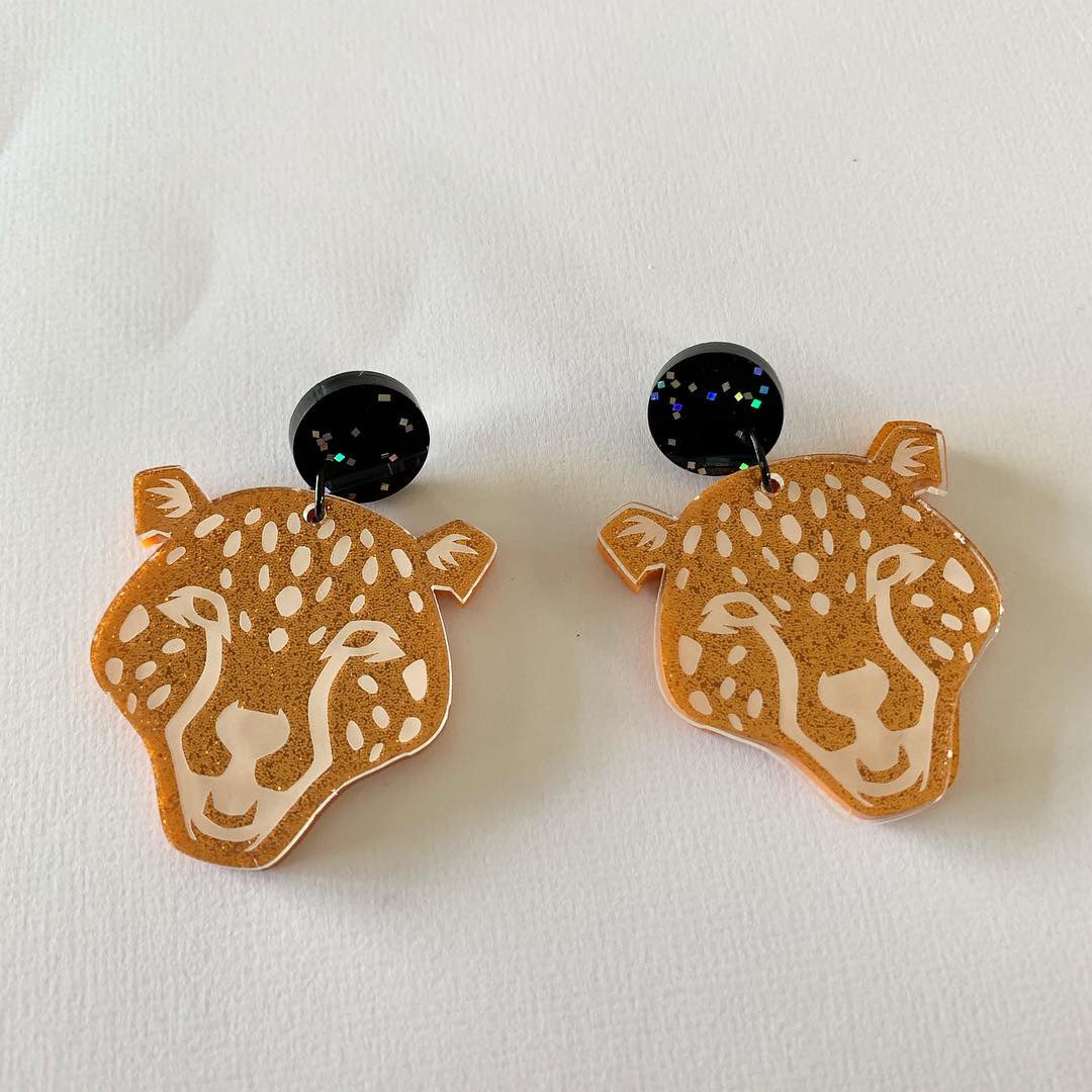 Big Cats Dangles Cheetah - CHOOSE STYLE & COLOUR