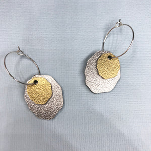 Metallic Asteroid Hoop Dangles