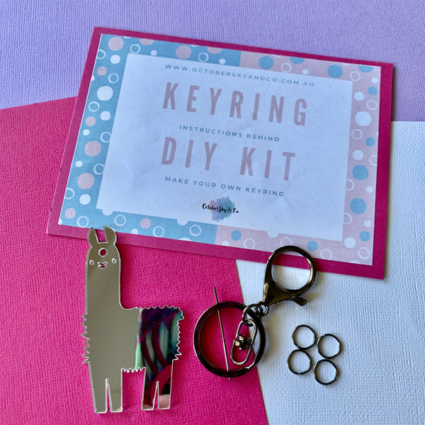 KEYRING DIY AT HOME KIT - CHOOSE COLOUR