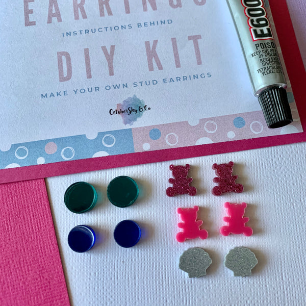 DIY AT HOME MINI STUD EARRINGS - CHOOSE COLOUR + DESIGN