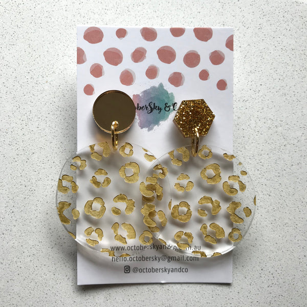 RAWR Leopard Dangles - CHOOSE COLOUR