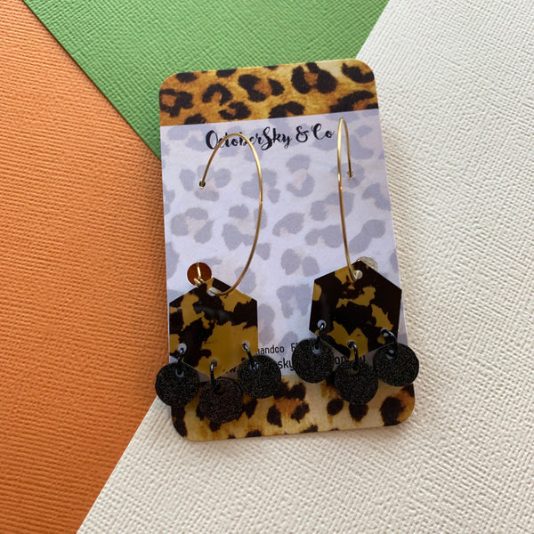 ANIMALISTIC LEOPARD HOOPS - CHOOSE DROPLET COLOUR