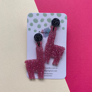 Gllamarous Dangles Glitter & Mirror - CHOOSE COLOUR