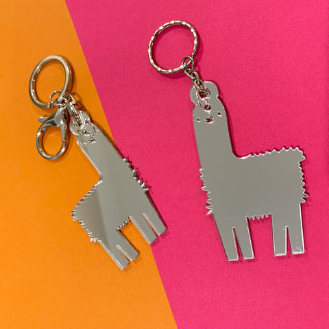 GLLAMAROUS MIRRORED KEYRINGS - CHOOSE COLOUR