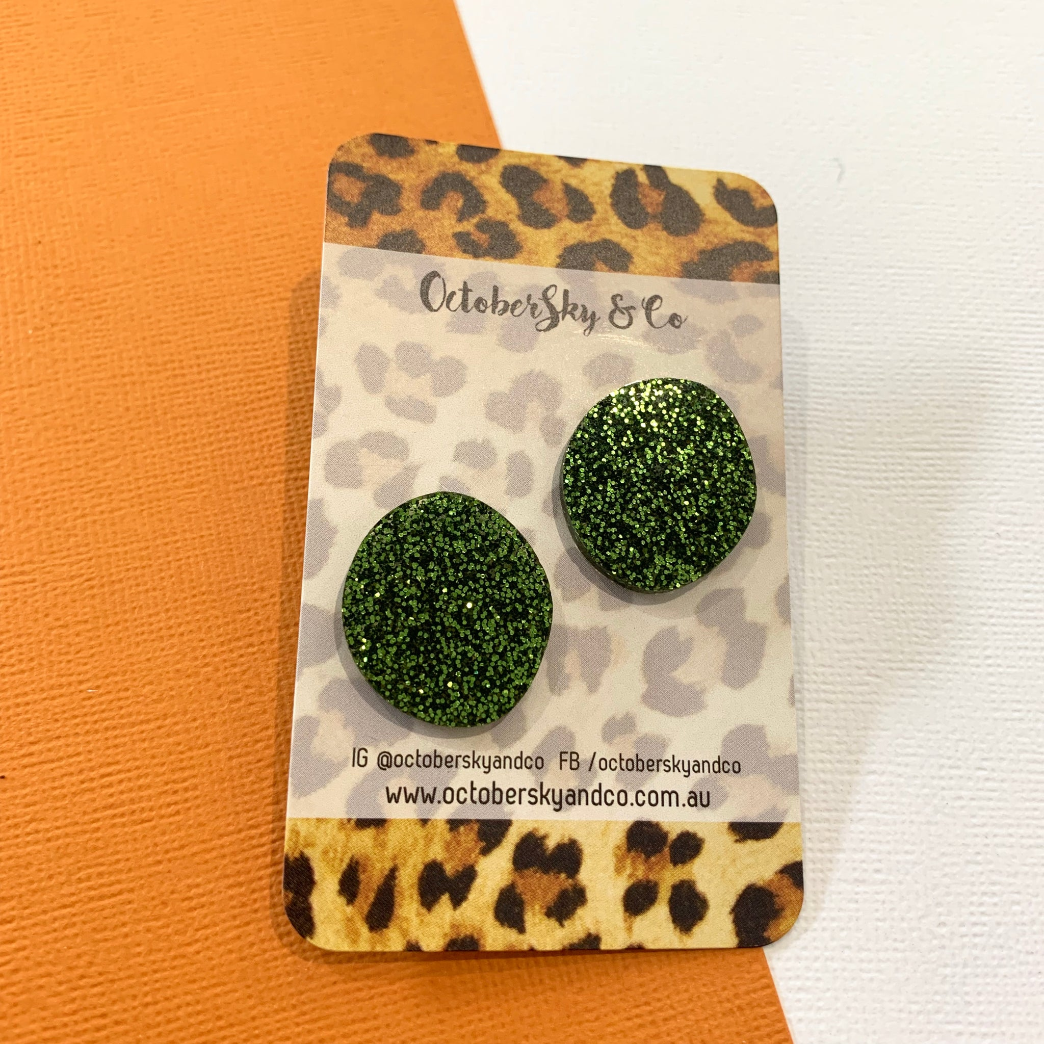 Organic Maxi Luxe Studs - CHOOSE COLOUR