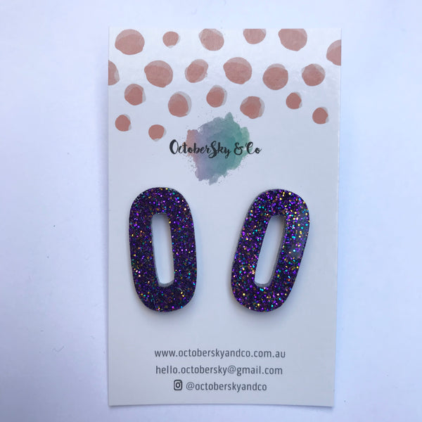 'OMG' Statement Studs - CHOOSE COLOUR