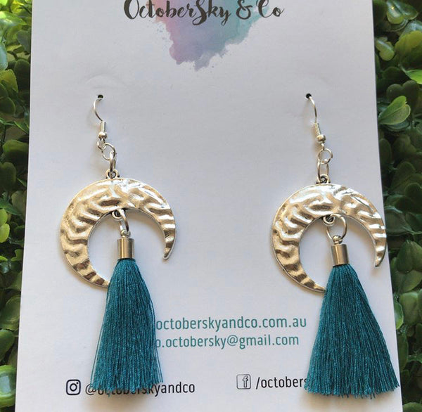 Tribal Moon Dangles