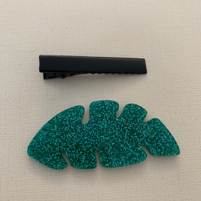 PALM LEAVES ALLIGATOR CLIP - CHOOSE COLOUR