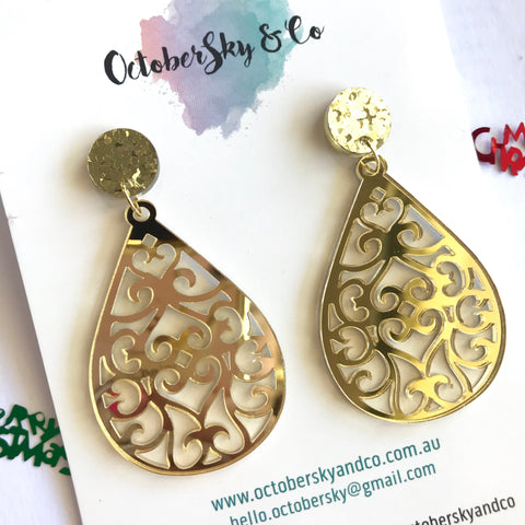Fab Filigree Dangles - CHOOSE COLOUR