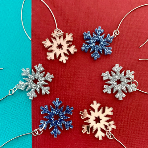 Glitzmas Snowflakes Hook Dangles - CHOOSE COLOUR