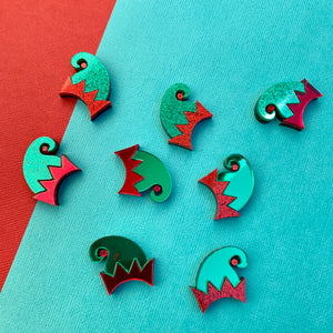 SANTA'S LITTLE HELPER 'ELFIE' STUDS - CHOOSE COLOUR