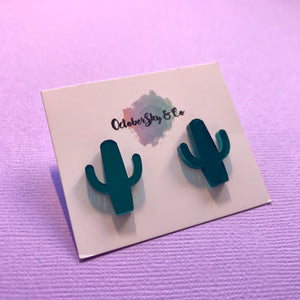 Cactus Coco Studs - CHOOSE COLOUR