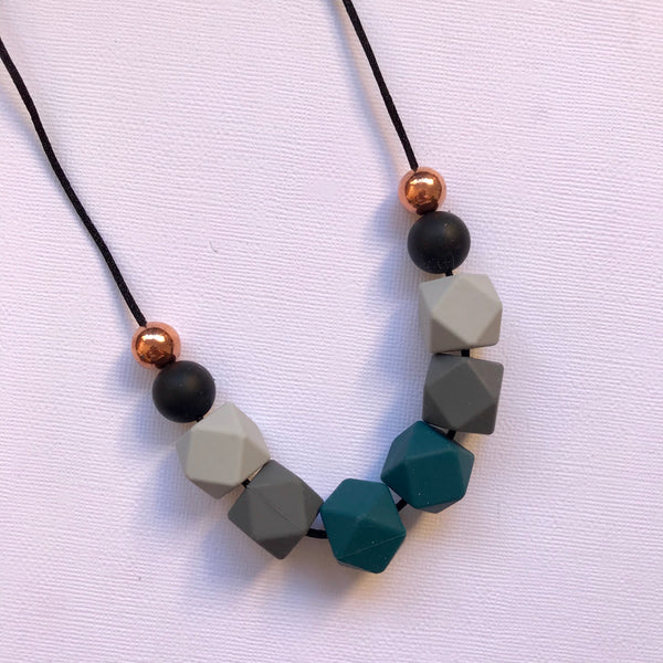 Teal Luxe Necklace - CHOOSE COLOUR
