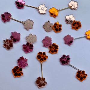 HIBISCUS MINI DANGLES - CHOOSE COLOUR
